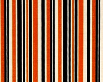 Orange Stripe from Riley Blake's Haunted House Halloween Collection by Carta Bella 100% Cotton C7136