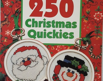 250 Christmas Quickies Counted Cross Stitch Instruction Book