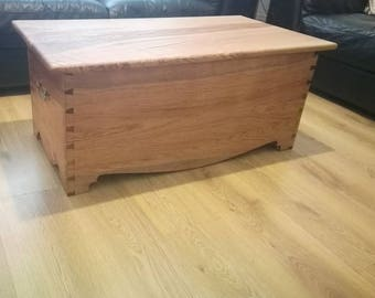 Handcrafted dovetailed blanket chest/coffee table.