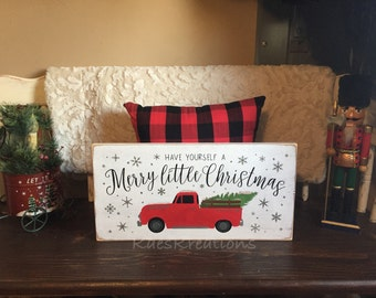 Have yourself a merry little christmas/ vintage Christmas wood sign