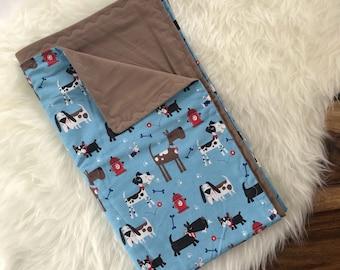 Puppy Baby Blanket, Swaddle Blanket, Stroller Blanket, Puppy Love, Nursery bedding, Baby shower Gift, Receiving Blanket, Baby boy,