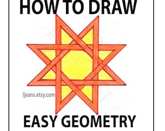 How to Draw Easy Geometry Overlay 8 Point Star