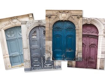 Paris Photography Notecards - Paris Doors Photo Note Cards, Blank Card, Greeting Card, Stationery