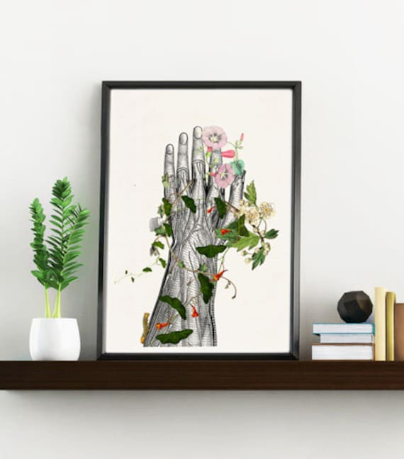 Doctors gift, Hand section Study Art Giclee Print- Science wall art, Future Doctor gift wall decor poster print SKA092WA4