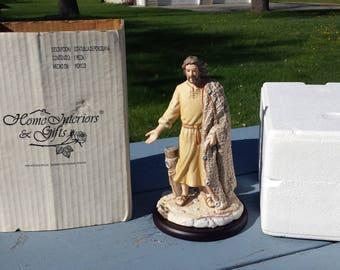 The Fisherman Masterpiece Porcelain Homco Home Interior Jesus Figurine Box & Stand