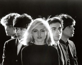 Blondie - Debbie Harry New Wave Punk Band Glossy Black & White Print 7X5, 10x8 or A4 Photo