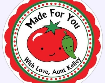 From the Kitchen, Canning Stickers, Kitchen Labels, Canning Labels, Made For You Labels, Stickers - Personalized for YOU