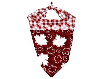 Dog Bandana - Canada Day Maple Leaf Reversible Bandana