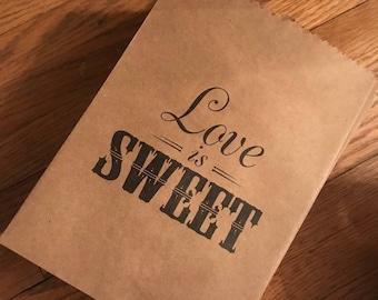 Love is Sweet - treat bags