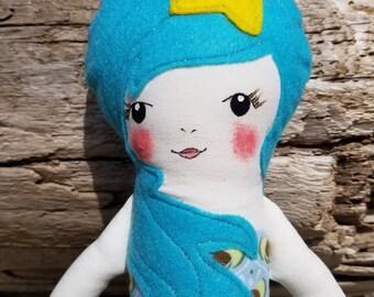 Mermaid Doll, OOAK Doll, handmade doll, girl gift,