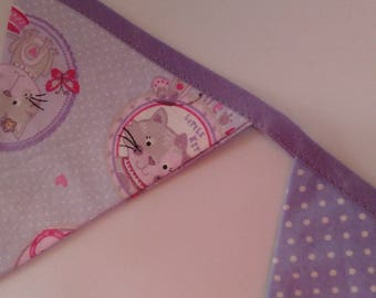 Bunting pattern cats Parma violet
