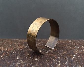 birch bark cuff bracelet | birch tree | birch bark bracelet | copper cuff | brass cuff
