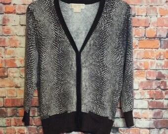 90's Michael Kors Women's V Neck Sweater Size S,Front Button