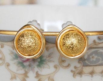 Gold Stardust Earrings , New Year's Eve Earrings , Wire Wrapped Studs , Sparkle Earrings