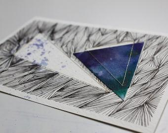 Handmade constellation postcard