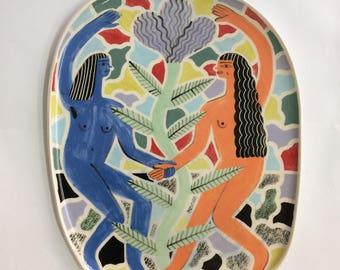 Dancing girls large plate