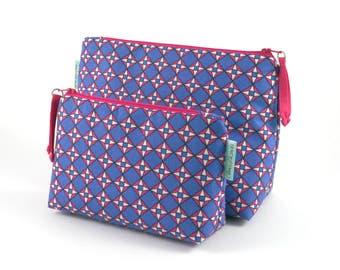 Makeup bag Geometric zipper bag Waterproof wash bag Women's accessory Gift for her