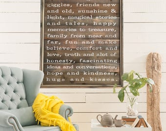 May This Home Be Filled With | Large Farmhouse Sign