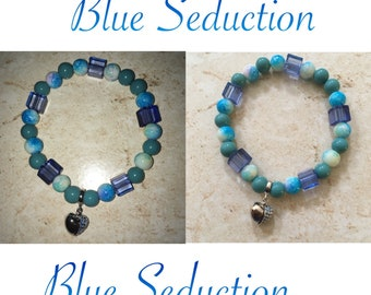 Individual Custom Bracelet (Blue Seduction)