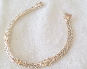 "Beautiful Sterling Silver 925 Bracelet 8"" from Milor, Italy"