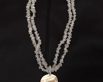 Mother of Pearl Pendant and Bead