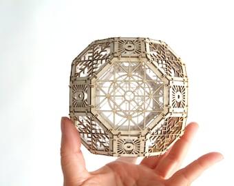 Great Rhombicuboctahedron Model Kit, 3D Laser Cut Sacred Geometry Model, Architectural Design Gifts