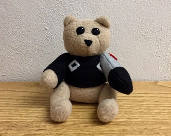 Marvel Inspired Plushie - Winter Soldier, James Buchanan Barnes, White Wolf, Avengers Infinity War, Bucky Barnes Bear Plush | Benji the Bear