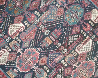 Antique Handmade Rug 4.1 × 3.7 ft 125 × 110 cm, very beautiful