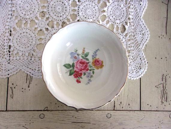 Scio Pottery, Vintage Rose China Bowl, Bridal Luncheon Decor, Tea Party China