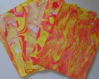 Hand-marbled Paper - ROY
