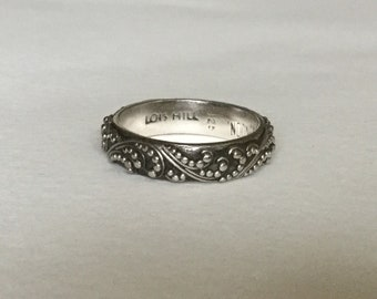 Lois Hill sterling silver enternity band ring