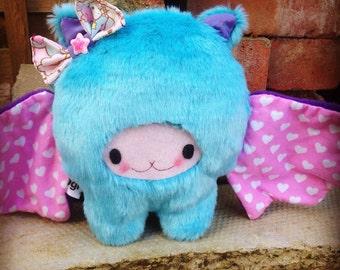 Kawaii Bat Plush, Cute Plush Bat, Kids Plush Bat Teddy, Cute Bat Teddy, Handmade Bat Plush, kids Bat Plush Toy, Baby Kei Bat Plush