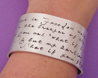 what if you fly, what if I fall, oh but my darling, erin hanson, graduation gift, inspirational quote, motivational quote, poetry bracelet