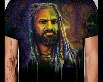 KING EZEKIEL Crew Neck Tee ( Please order a size SMALLER than you wear )