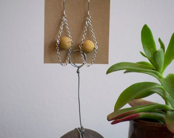 Sustainable Naturally Dyed Cork Earrings