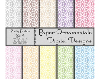 Digital Paper, Instant Download, Spring Printable Paper, Digital Scrapbook Paper, 12 x 12 Paper Pack, Spring Paper Pattern, Commercial Use