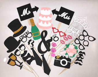 Wedding Photo Booth Props 37 pc