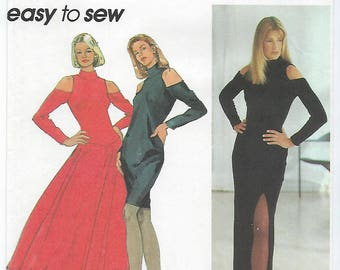 Simplicity 8725 - MISSES Slim Dress Sized for Stretch Knits Only / Sizes 4, 6, 8