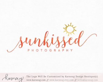 Sun Logo Photography Logo Sunshine Logo Sunrise Premade Logo Watermark Logo Business Logo Branding Logo Custom Logo Logos and Watermarks