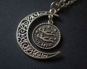 Moon Astrology gemini necklace