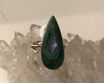 Ruby in Fuchsite Party Ring Size 5 1/2