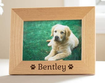 Personalized Dog Picture Frame: Personalized Dog Picture Frame, Personalized Pet Picture Frame, Pet Memorial Picture Frame, SHIPS FAST