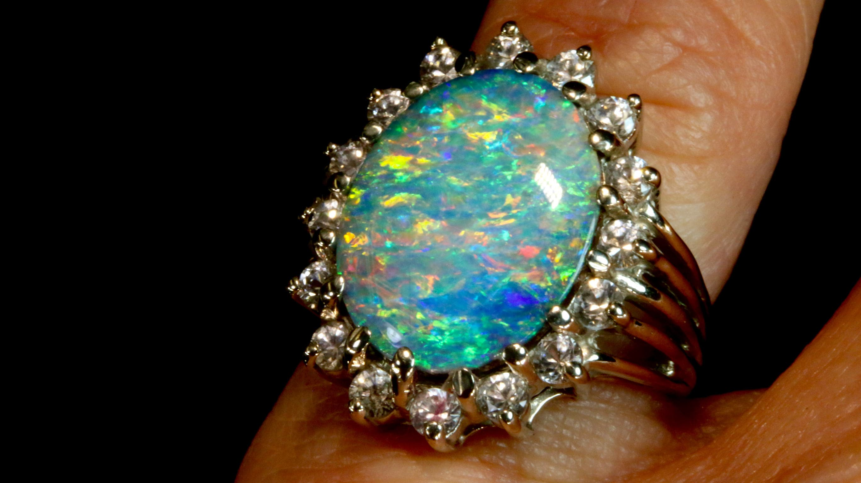rings are the from opal there one common by weldons many different boulder another of opals colour distinguished background types most dublin engagement