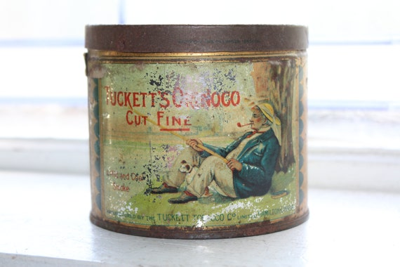 Antique Tucketts Orinoco Tobacco Tin 1920s