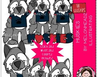 Huskies clip art - Combo Pack