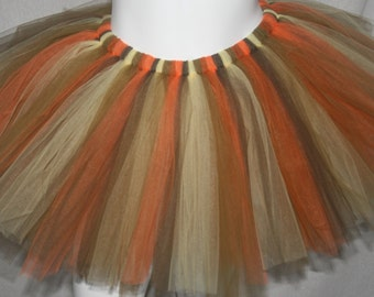 Fall Brown Orange Tutu Lion Tutu Autumn Tutu