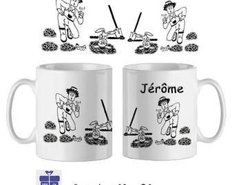 Mug gardener name to personalize ex Jerome