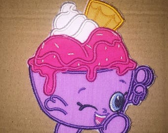 Shopkins Icecream Iron on patch