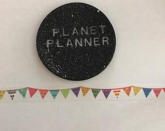 Bunting Washi Tape, Party Washi Tape, Birthday Washi Tape, Bright Washi Tape, Rainbow Washi Tape, Summer Washi, Planner Washi, Diary Washi.