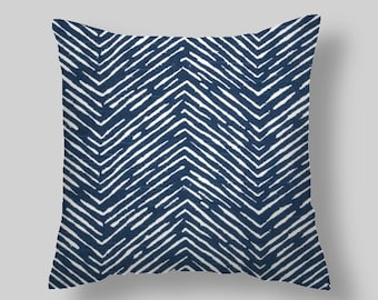 Blue Pillow Covers  Navy  Blue Pillow Covers Decorative Pillows  Size Choice  Accent Pillows Throw Pillows Decorative Pillows Home